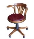Sedia girevole da ufficio in legno con imbottitura
