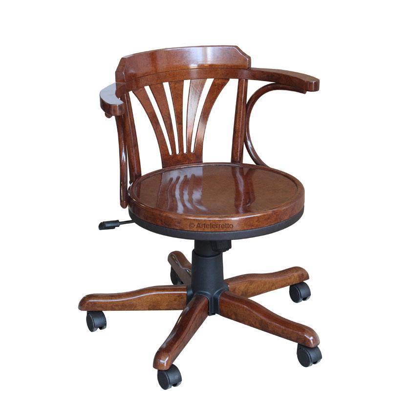 sedia girevole in legno sedia poltroncina girevole da