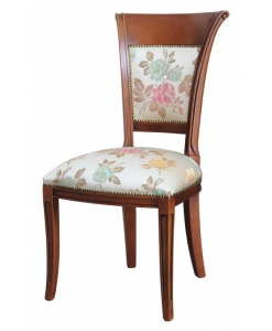 sedia in stile in legno imbottita