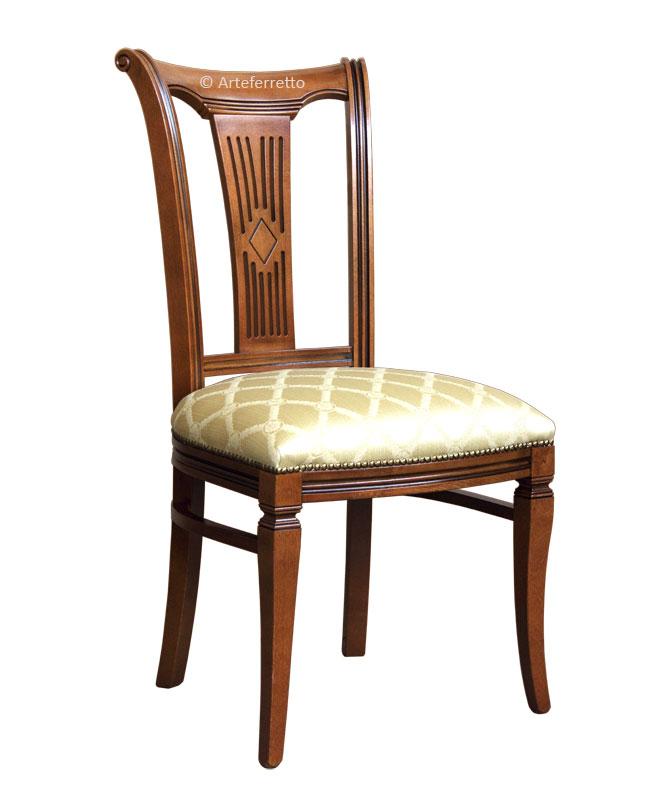 Sedia schienale alto stilizzata imbottita - ArteFerretto