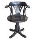 poltroncina girevole, poltroncina, poltroncina in legno, sedia girevole