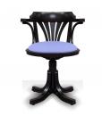 Sedia girevole da scrivania in legno laccato nero