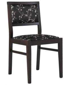 Sedia in faggio stile contemporaneo e schienale imbottito