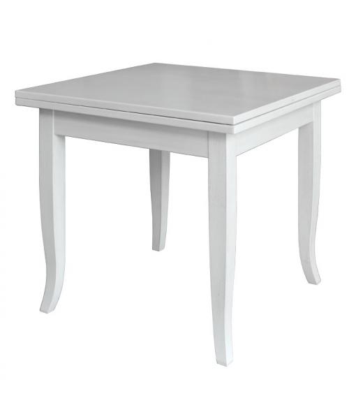 Tavolo da pranzo laccato bianco 80 x 80 cm