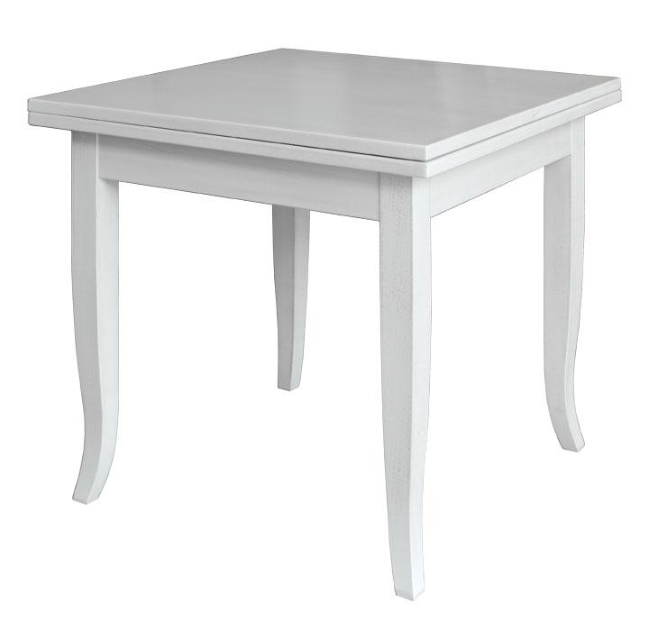 Tavolo quadrato apertura a libro 80 160 cm arteferretto - Tavolo quadrato allungabile design ...