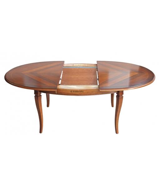 Tavolo ovale allungabile intarsiato