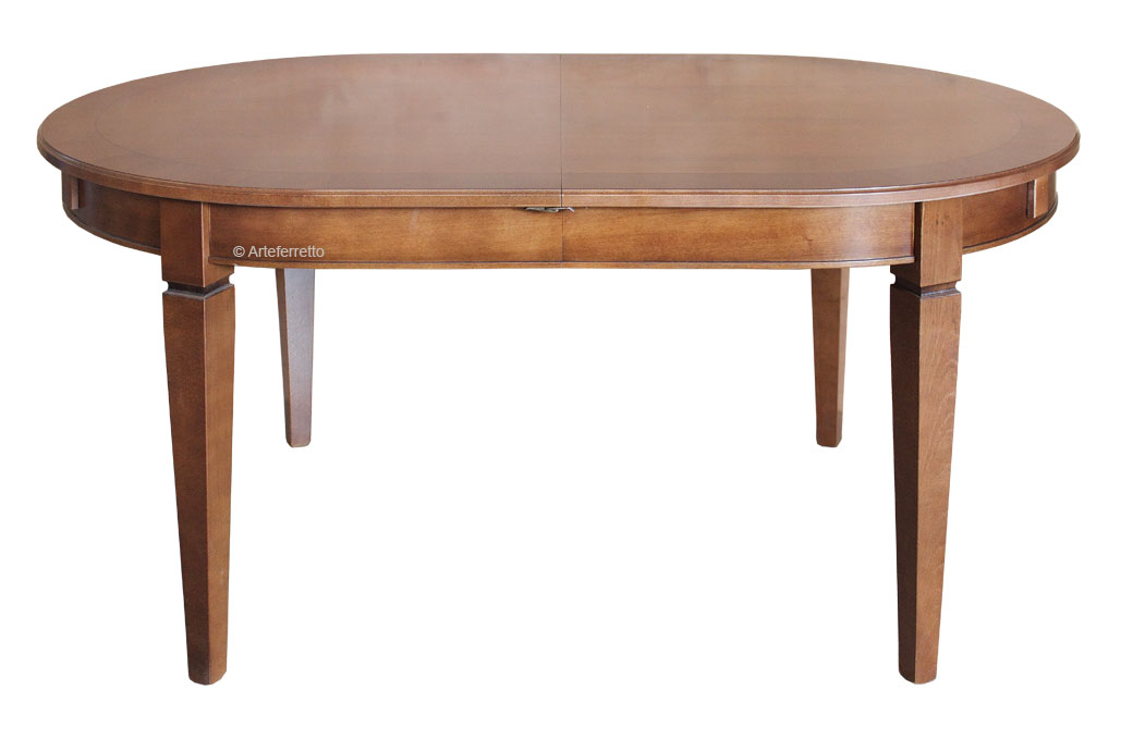 Tavolo ovale allungabile per sala da pranzo tavolo 160 cm for Tavolo da sala in legno