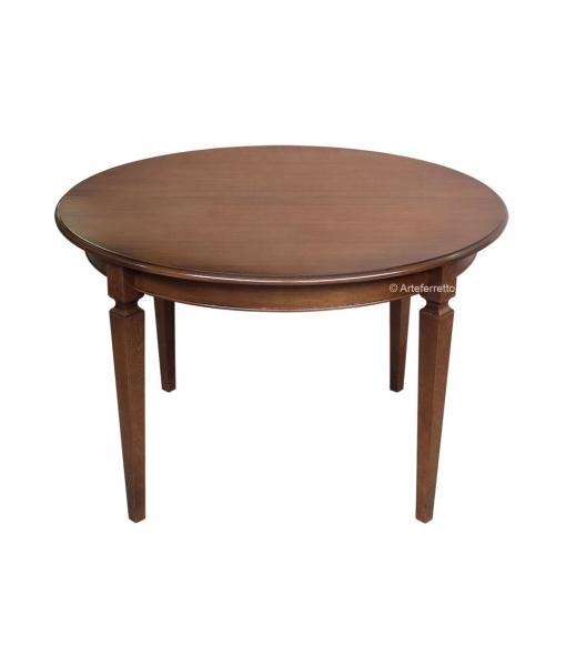 Tavolo rotondo allungabile diametro 120 cm arteferretto for Tavolo rotondo 120 cm