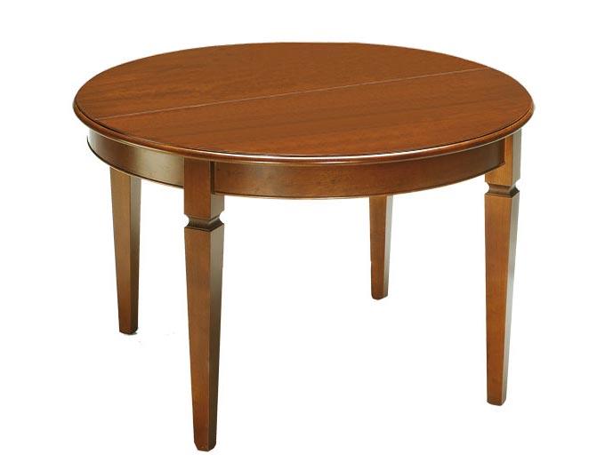 Tavolo rotondo allungabile 100 cm, tavolo in legno per sala da pranzo