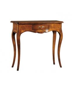 Consolle con cassetto linea classica in legno di artigianato veneto