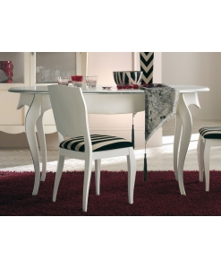 tavolo ovale, tavolo bianco