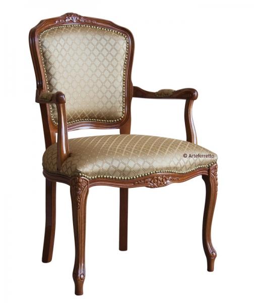Poltroncina, sedia con braccioli da salotto o camera da letto