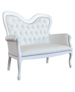 divanetto, divano, divano in stile, divano in eco pelle