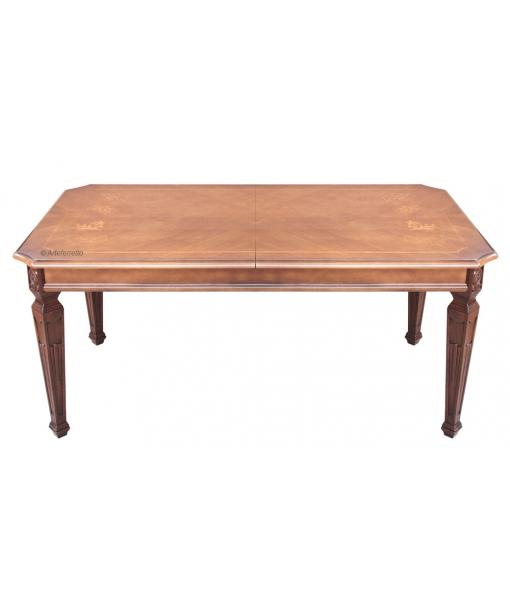 Tavolo rettangolare intarsiato, Art. KA-728