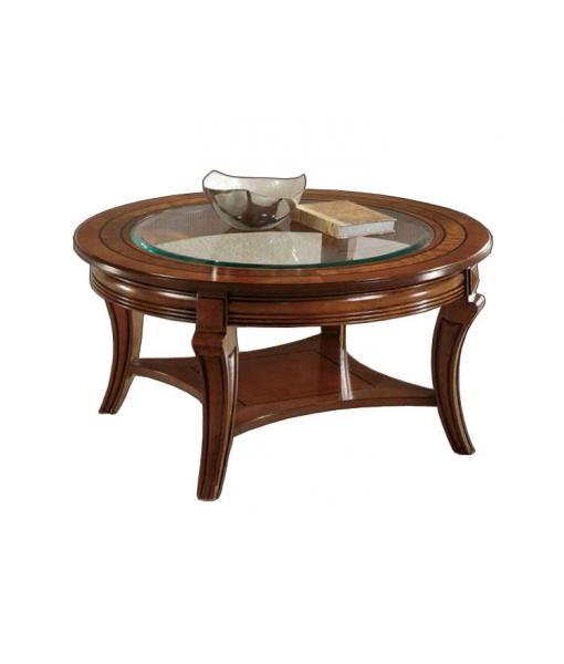 Tavolino rotondo piano cristallo - ArteFerretto