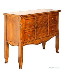 Consolle in robusto legno massello con due cassettoni stile classico antichizzato