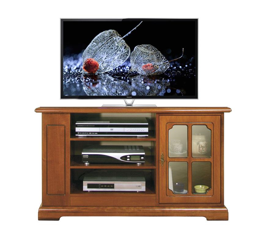 Mobile tv classico, mobile porta tv con vetrinetta e scaffali per dvd ...