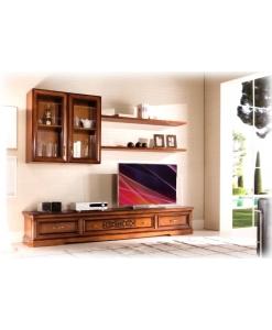parete tv a muro per arredo parete soggiorno