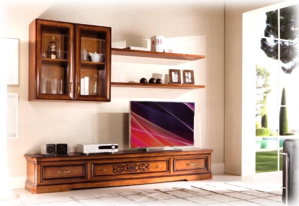 Parete tv a muro composizione per soggiorno arteferretto