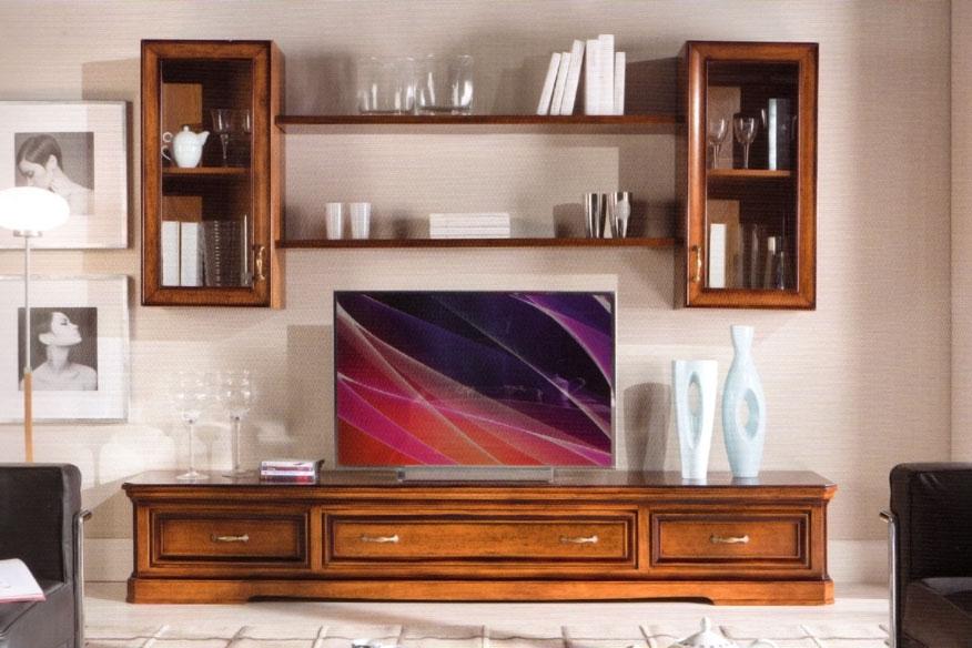 parete tv composizione per soggiorno arteferretto. Black Bedroom Furniture Sets. Home Design Ideas