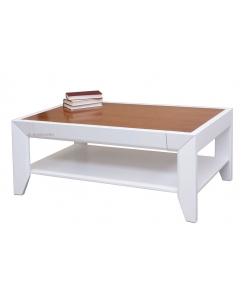 Tavolino da salotto bicolore con cassetto
