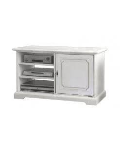 porta tv, Porta tv compatto e spazioso laccato bianco 3810-AV