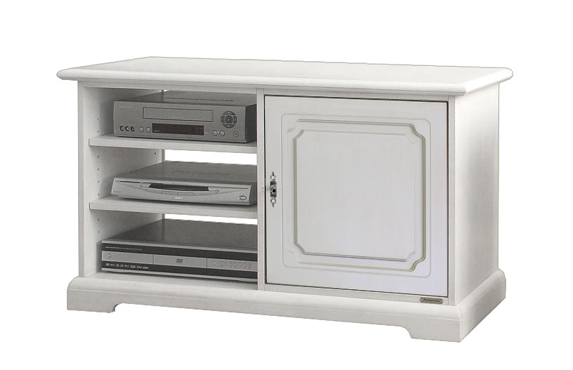 """Mobile porta tv 40"""" pollici in legno laccato bianco avorio nero soggiorno cucina  eBay"""