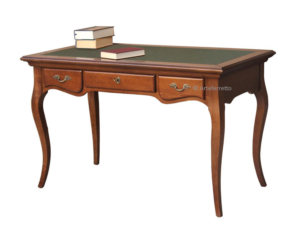 Scrivania in legno con piano in ecopelle scrivania per ufficio