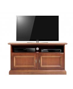 porta tv in legno con vano per soundbar
