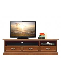 Porta tv basso soundbar in stile classico ed elegante