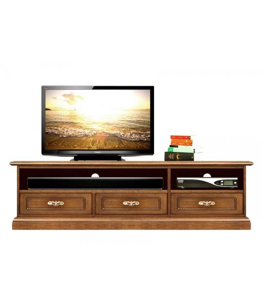 Mobile porta TV basso da salotto con vano soundbar, Art. SB-11-PQ