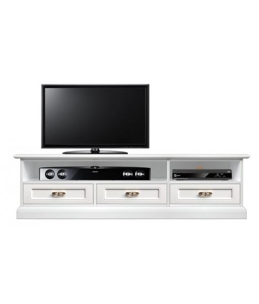Mobile TV design moderno con 3 cassetti dal gusto classico, Art. SB-11-PQ