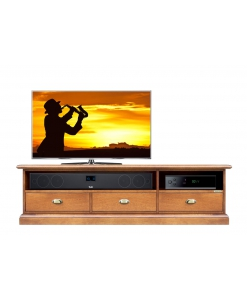 Porta tv vano soundbar 3 cassetti, Porta tv vano soundbar
