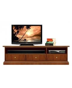 Porta tv vano soundbar 3 cassetti in legno made in Italy