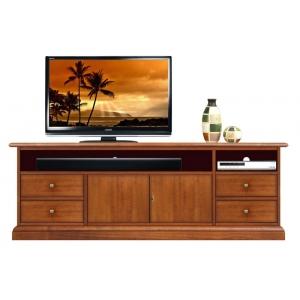 Mobile tv in legno con vano per soundbar