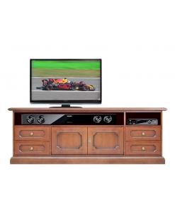 Mobile tv, mobile tv classico, mobile tv per soggiorno, mobile tv in legno, Mobile tv per soundbar Arteferretto