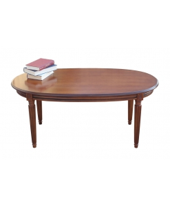 tavolino ovale stile impero
