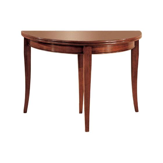 Consolle in legno apribile a libro diventa un tavolo tondo 120 cm vari colori ebay - Tavolo tondo apribile ...