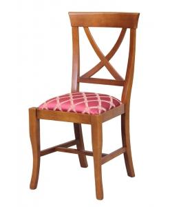 sedia in stile imbottita, sedia, sedia per sala da pranzo, sedia per soggiorno, sedia in legno