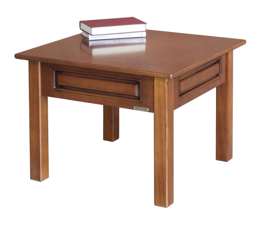 Tavolino salotto basso quadrato in legno ciliegio noce for Tavolino salotto legno
