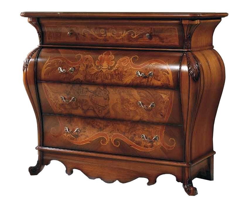 Com classico in legno pregiato con intagli com in stile per camera da letto ebay - Camera da letto stile classico ...