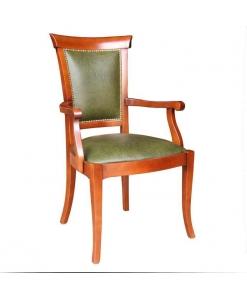 sedia capotavola, sedia in pelle, sedia