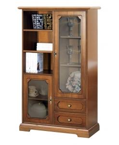 Vetrinetta combinata, vetrina in legno, arredo classico, vetrina classica, mobile in legno, mobile per soggiorno, Vetrinetta salotto in legno