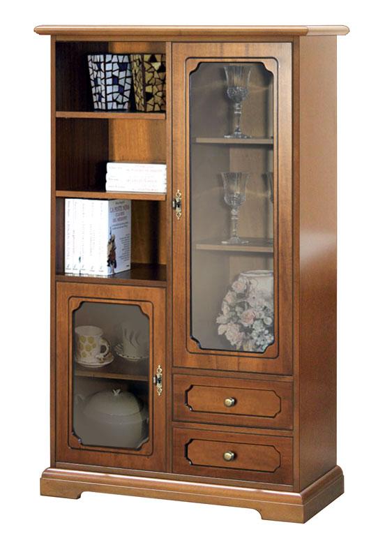 Mobile vetrina elegante, mobile in legno cassetti e vetrinette, mobile soggiorno  eBay