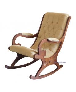 poltrona a dondolo dondolo in legno, dondolo, dondolo per soggiorno