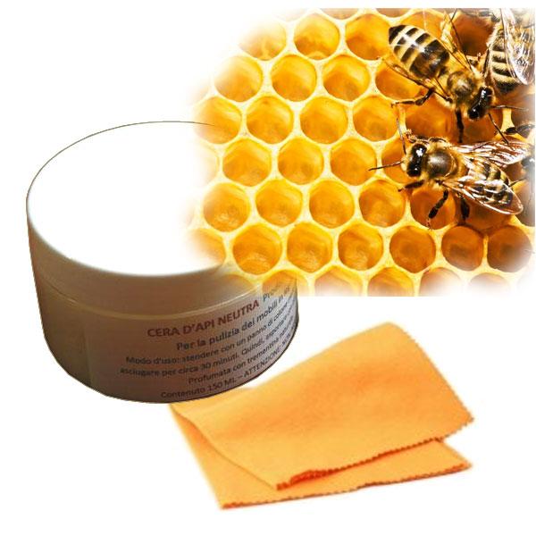 Cera d 39 api neutra per la pulizia dei mobili arteferretto - Cera d api per legno esterno ...