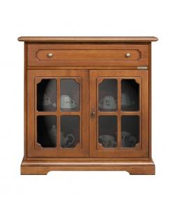 credenza 2 porte classica con vetri 3013-L