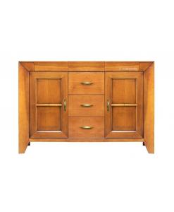 credenzina in legno da sala da pranzo, cucina o salotto 2 porte 5 cassetti