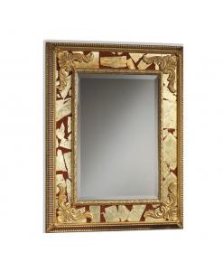 Specchiera rettangolare da salotto / soggiorno rosso / oro