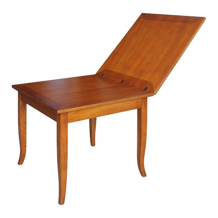 Tavolo quadrato apertura a libro 80 160 cm arteferretto for Tavolo consolle 80 cm